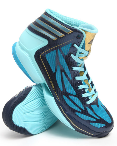 Adidas Men Light Blue,Teal Adizero Crazy Light 2 Sneakers