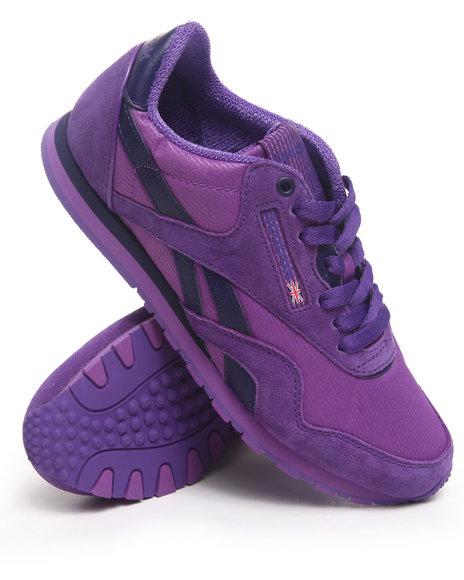 Reebok Women Purple Cl Nylon Slim Sneakers
