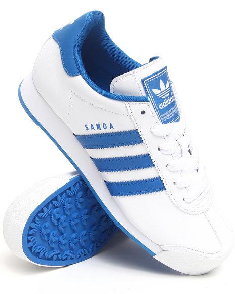 Adidas Men Blue,White Samoa Sneakers
