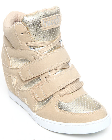 Fashion Lab - Women Beige Morita Wedge Sneaker