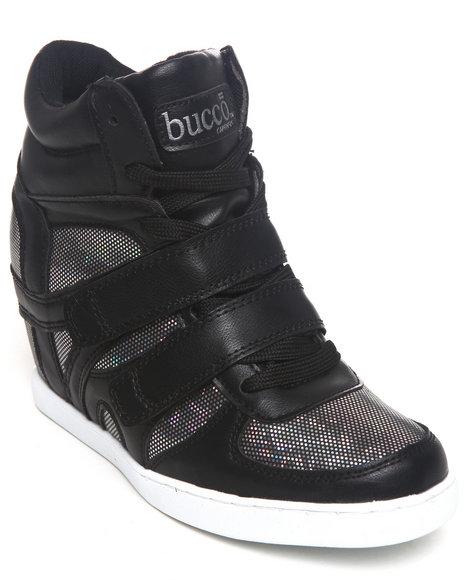Fashion Lab Black Morita Wedge Sneaker