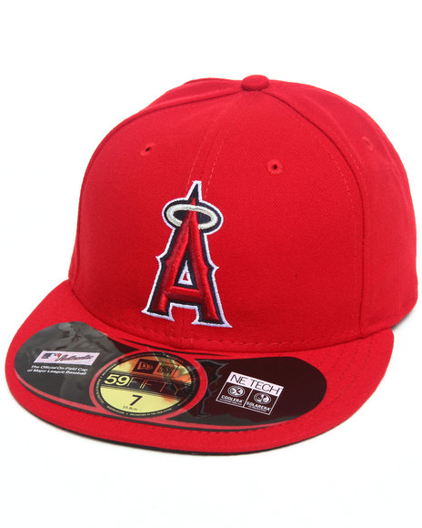 New Era - Men Red Anaheim Angels Authentic 5950 Fitted Hat