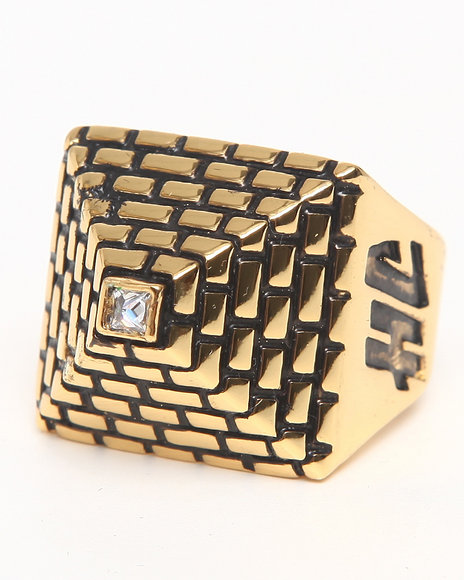 Han Cholo - Men Gold Pyramid Ring