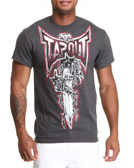 Tapout Men Regal Sword SS Tee Charcoal XLarge