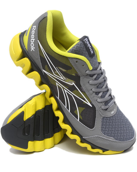 Reebok Men Grey,Yellow Ziglite Rush Sneakers