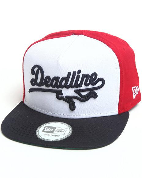 Deadline Sports Logo 5-Panel Snapback Cap Red