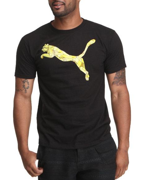 Puma Men Black Metal Cat Graphic Tee