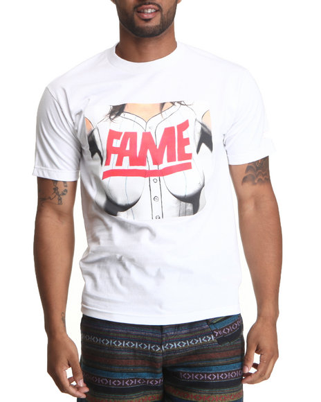 Hall Of Fame - Men White Tits Tee - $13.99