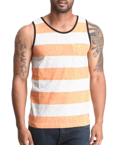 Blvck Scvle - Men Beige,Orange Jordan Tank