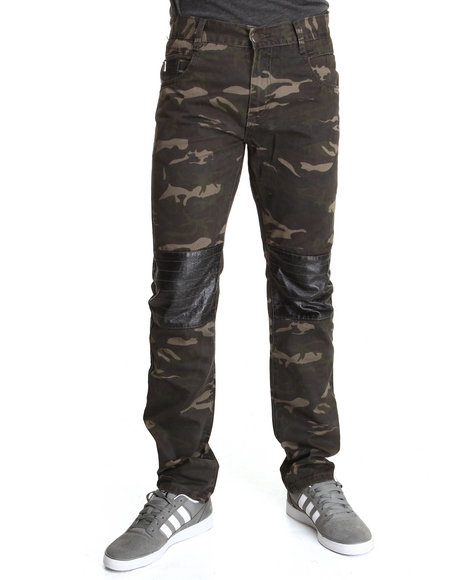 Forte' - Men Camo Camo Lightweight Twill Pants W/ P U Pockets/Patches