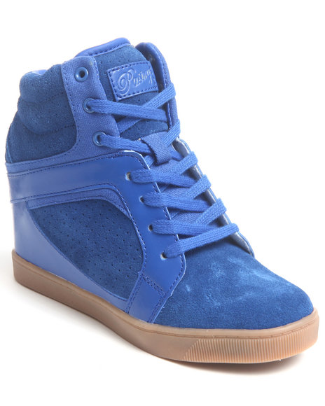 Pastry Blue Strudel Wedge Sneaker