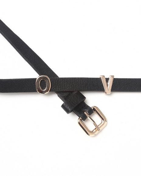 Drj Accessories Shoppe Women Belt Black