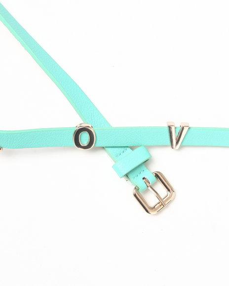 Drj Accessories Shoppe Women Belt Teal
