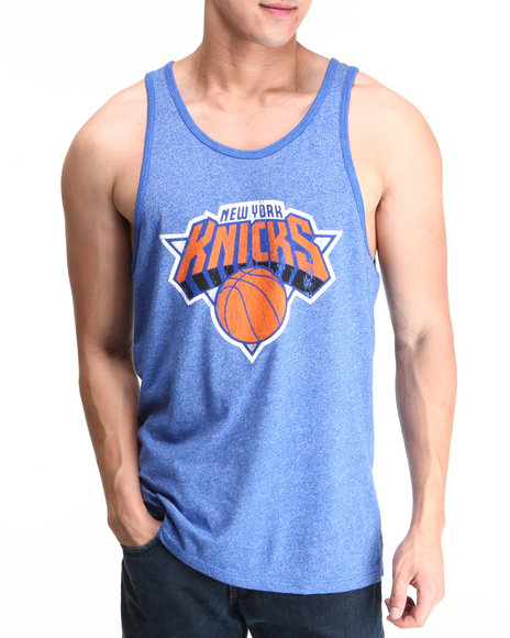 NBA, MLB, NFL Gear - New York Knicks John Starks Vintage Player Tri Blend Tank Top (Drjays.com Exclusive)