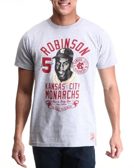 Jackie Robinson: 5 To 42 - Men Grey 5 To 42 K C Visage S/S Tee