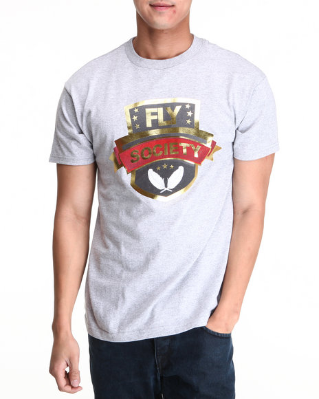 Flysociety Grey Flock Together Tee