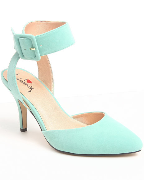 Luichiny Green Law Rence Kitten Pump