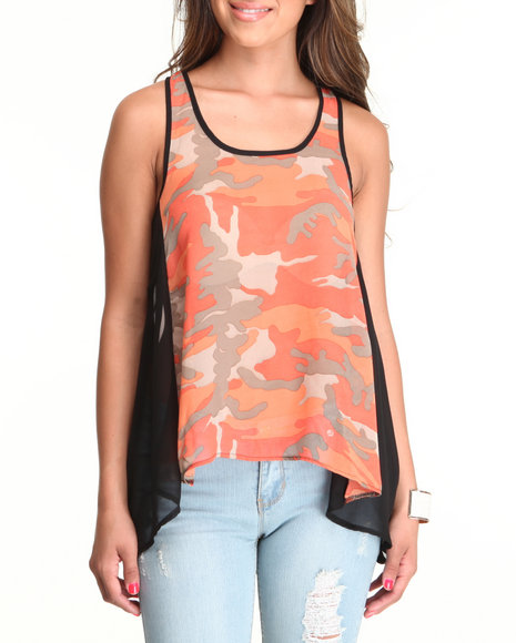 Fashion Lab - Women Pink Lt. Jane Chiffon Tank
