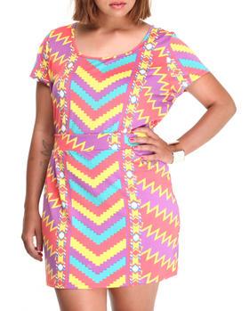 COOGI - Coogi dress set w/high waisted skirt and long top (plus)