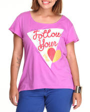 The Sale Shop- Women - Follow Your Heart High-Low Tee (plus)