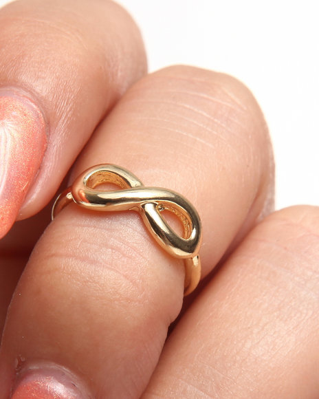 Drj Accessories Shoppe Women Infinity Knuckle Ring Gold 1SZ