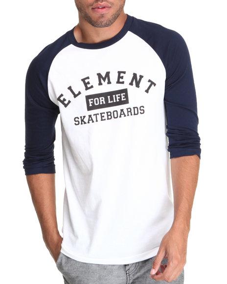 Element Navy Make It Count Baseball Raglan Tee