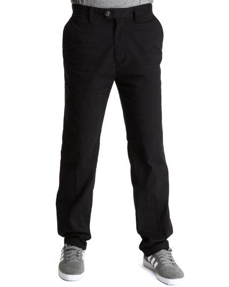 Nautica Black Flat Front Twill Pants
