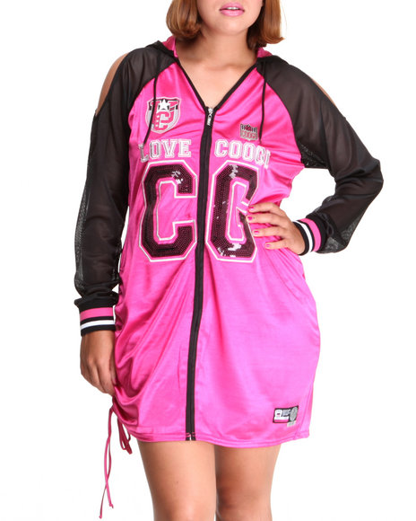 COOGI Women Pink Varsity Dress (Plus)