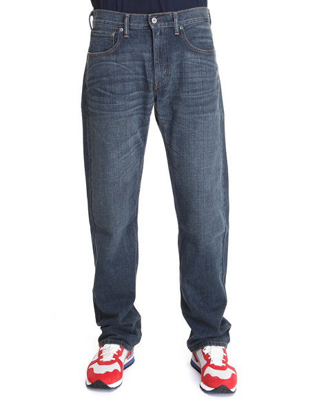 Levi's Dark Wash 569 Loose Straight Fit Indie Blue Jeans