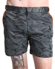 "Men - 6"" Catalonia Camo Swim Trunk w/ Neon Detail"