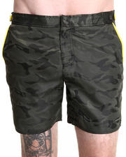 "Swimwear - 6"" Catalonia Camo Swim Trunk w/ Neon detail"