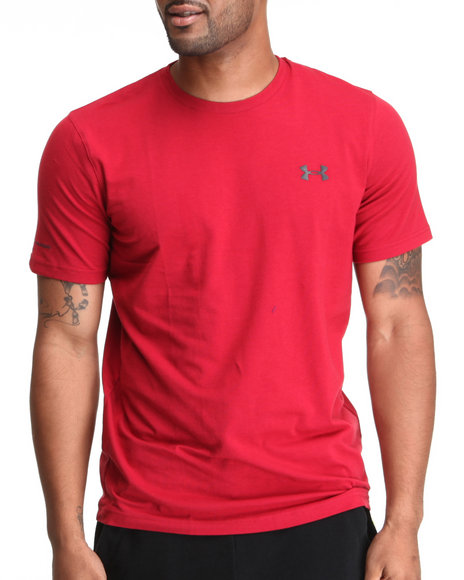 Under Armour Red,Silver Charged Cotton Tee (Quick-Dry Technology)