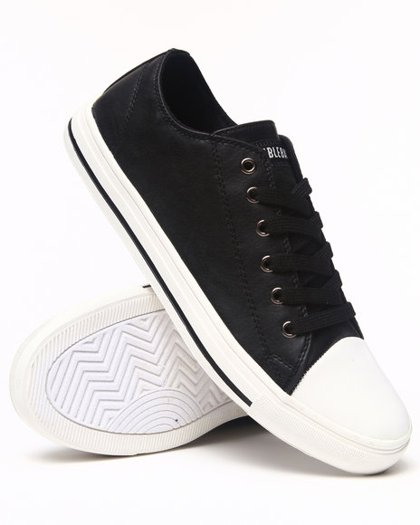 Buyers Picks - Men Black Faux Leather Starter Lo Sneaker