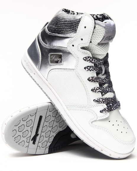 Pastry Silver,White Glam Pie Snake Trim Sneaker