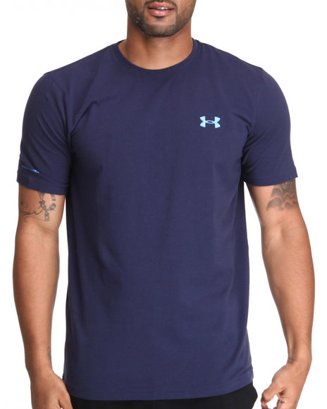 Under Armour - Men Navy Charged Cotton Tee (Quick-Dry Technology)