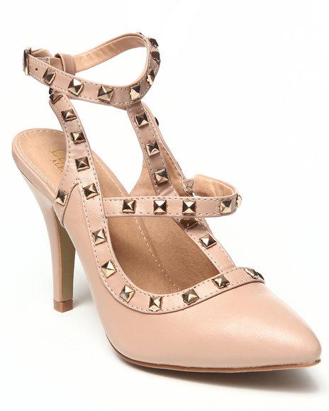 Fashion Lab Cream Florie Pump W/T Ankle Strap Studs