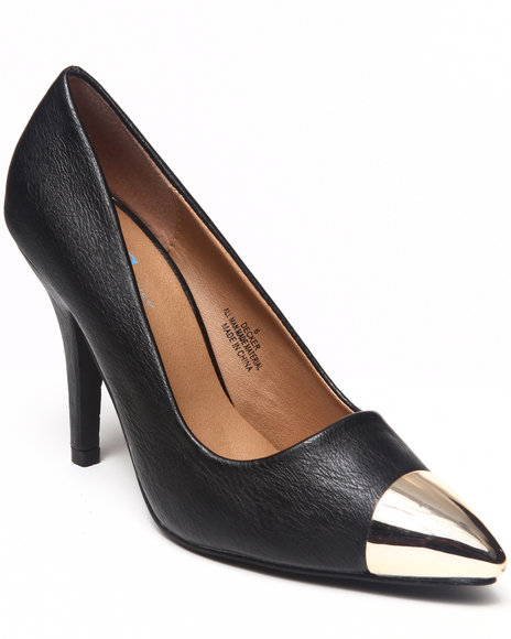 Fashion Lab - Women Black Amy Pump W/Toe Detail - $15.99