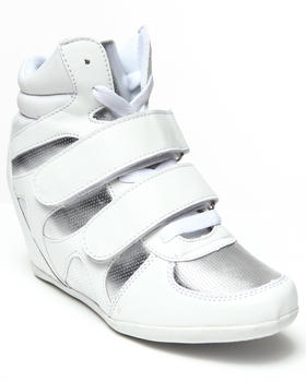 Fashion Lab - Benicia Metallic 2 strap sneaker