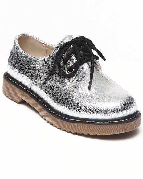 La Galleria - Girls Silver Cookie Oxford (11-4)