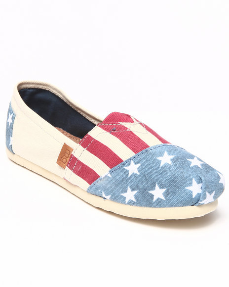Steve Madden - Women Cream,Midnight Flag Flat