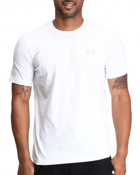 Under Armour - Men White Charged Cotton Tee (Quick-Dry Technology)