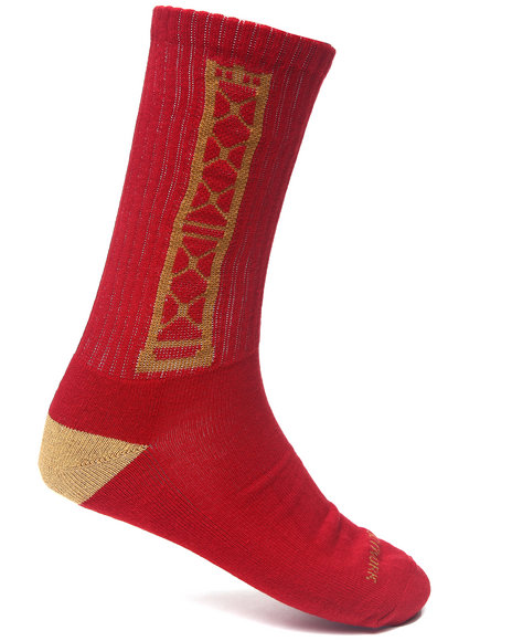Buyers Picks Men Bay Bridge Socks Red