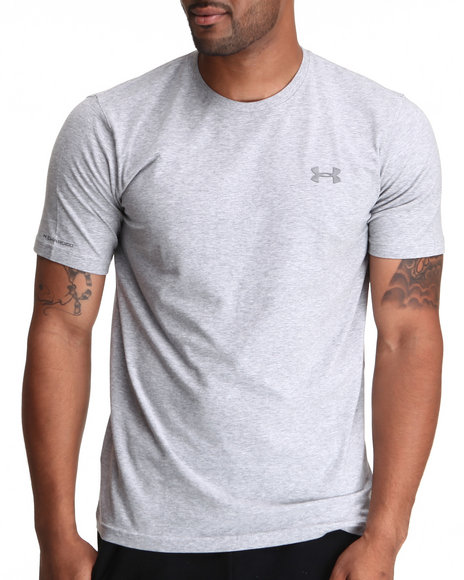 Under Armour - Men Grey Charged Cotton Tee (Quick-Dry Technology)