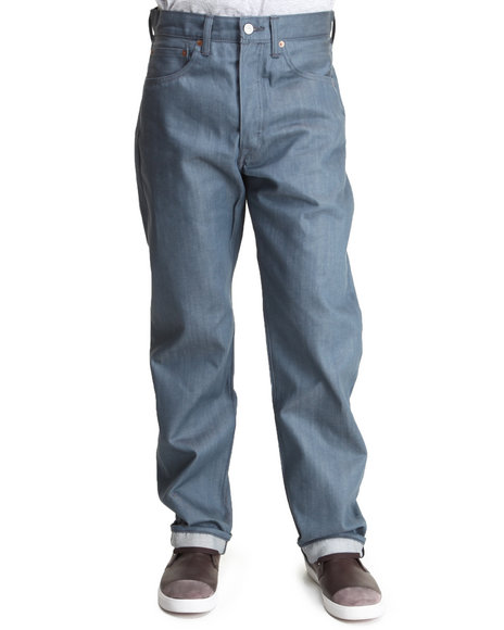 Levi's Blue 501 Shrink-To-Fit Straight Fit Chalk Blue Non-Denim Pants