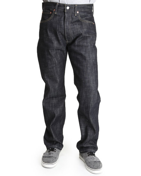 Levi's - Men Dark Blue 501 Shrink-To-Fit Straight Fit Knight Rigid Jeans