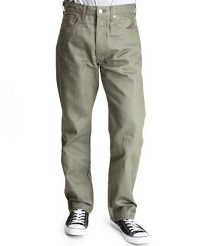 Levi's - 501 Shrink-To-Fit Straight Fit Ivy Green Non-Denim Pants