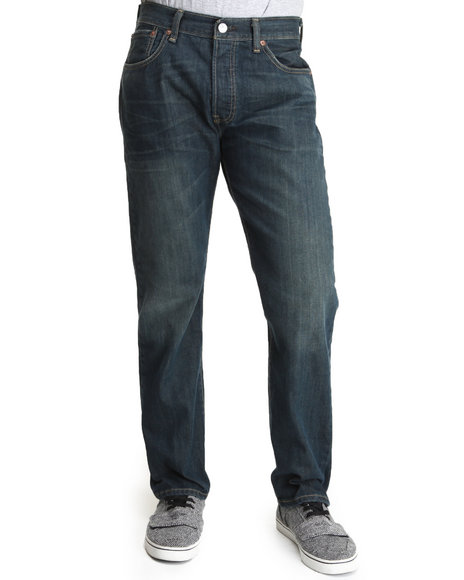 Levi's - Men Medium Wash 501 Straight Fit 18 Month Green Jeans