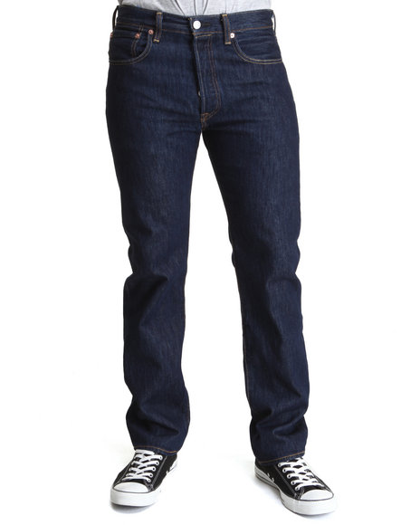 Levi's Dark Wash 501 Straight Fit Rinse Jeans