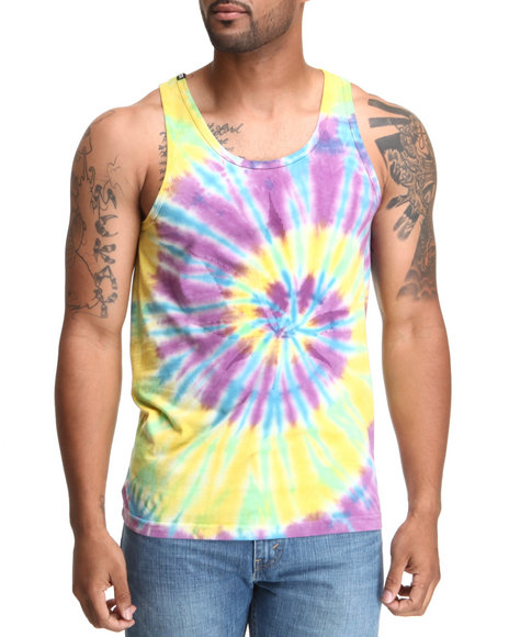DOPE Purple,Yellow Trippy Tank