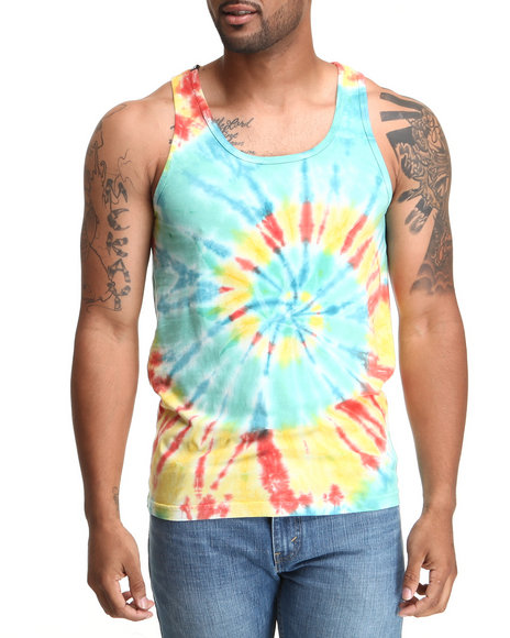 DOPE Blue,Orange Trippy Tank